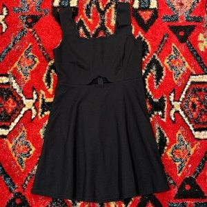 Alya Francesca's black fit and flare a line dress